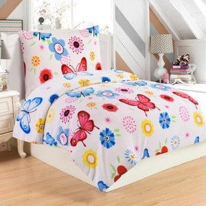 Mikroplyšové obliečky na jednolôžko My House Butterfly, 140×200 cm