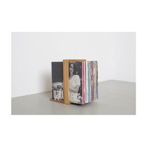Stojan na gramofónové platne z dubového dreva das kleine b Vinyl, 26×35cm