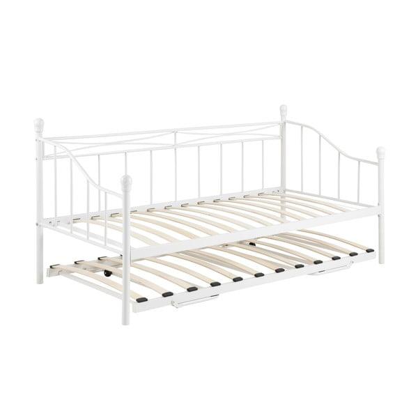 Biela rozkladacia posteľ Actona Olivia, 90 - 180 x 200 cm