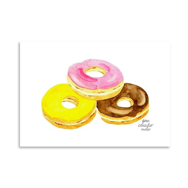 Autorský plagát Doughnuts, 30x42 m