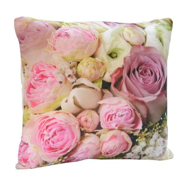 Vankúš Pink Flowers, 45x45 cm
