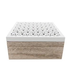 Drevený úložný box na čaj Clayre & Eef Lersso