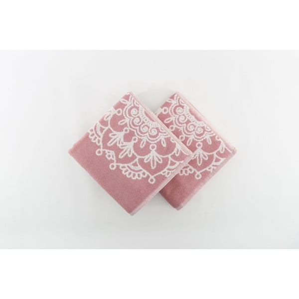 Sada 2 osušiek Crazy Vibes Pink, 50x100 cm
