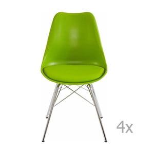 Sada 4 zelených jedálenských  stoličiek Støraa Jenny