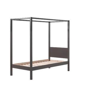 Sivá detská posteľ Vipack Pino Canopy, 90 × 200 cm