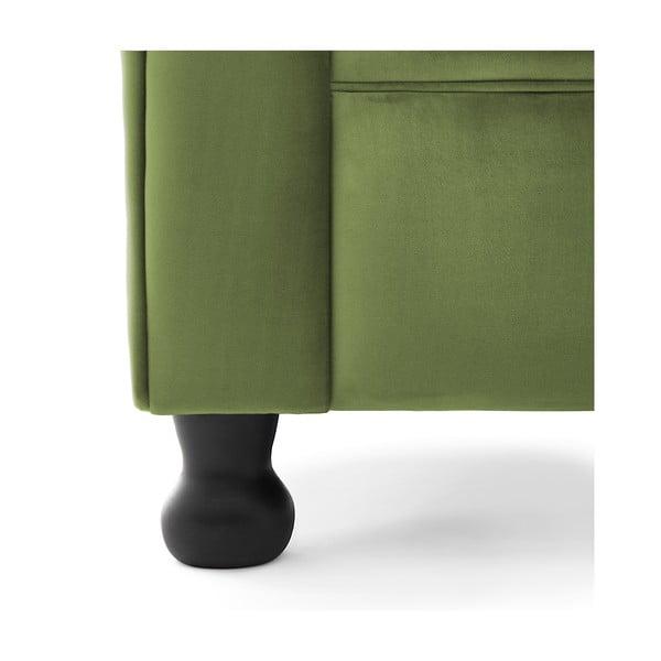 Zelená dvojmiestna pohovka Vivonita Chesterfield