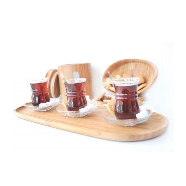 Bambusový podnos na servírovanie kávy Bambum Latte