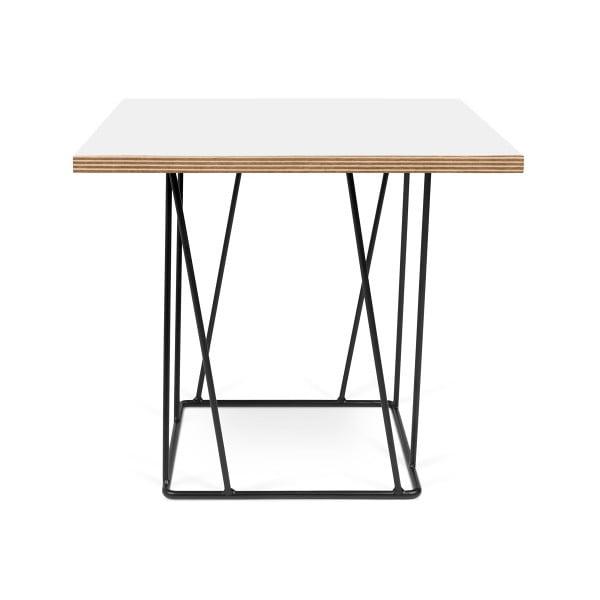 Biely konferenčný stolík s čiernymi nohami TemaHome Helix,50cm