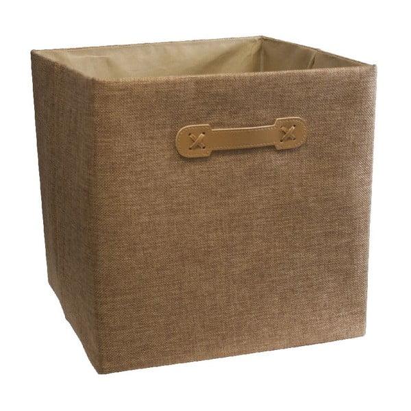 Úložný box Ordinett Cube Brown Sugar, 32x32 cm