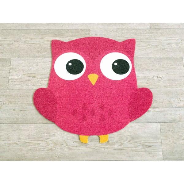 Koberec Owls - sýto ružová sova, 100x100 cm