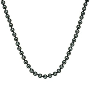 Perlový náhrdelník Muschel, zelené perly 8 mm, dĺžka 60 cm