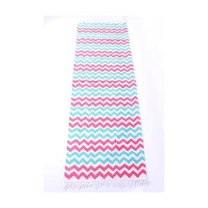 Koberec La Finesse Zig Zag Blue/Pink, 70x200 cm