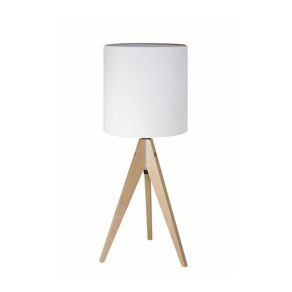 Biela stolová lampa 4room Artist, breza, Ø 25 cm