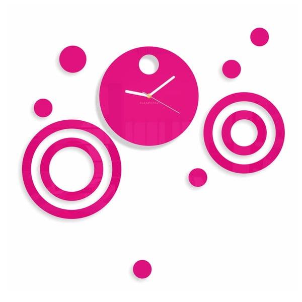 Hodiny z plexiskla Imagine Pink