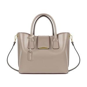 Horčicovohnedá kožená kabelka Maison Bag Candy