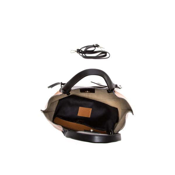 Kožená kabelka Anna Luchini 386 Cognac Nero