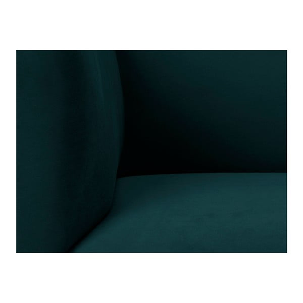 Petrolejovozelená zamatová dvojmiestna pohovka Windsor & Co Sofas Neptune