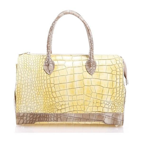 Kožená kabelka Livie, žltá