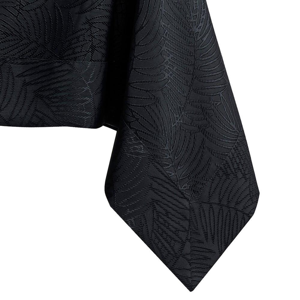 Čierny obrus AmeliaHome Gaia Black, 140 x 400 cm