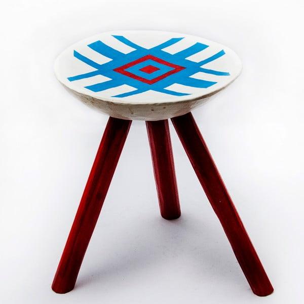 Ručne maľovaná stolička Alma, 38 cm