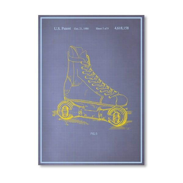 Plagát Rollerskates, 30x42 cm