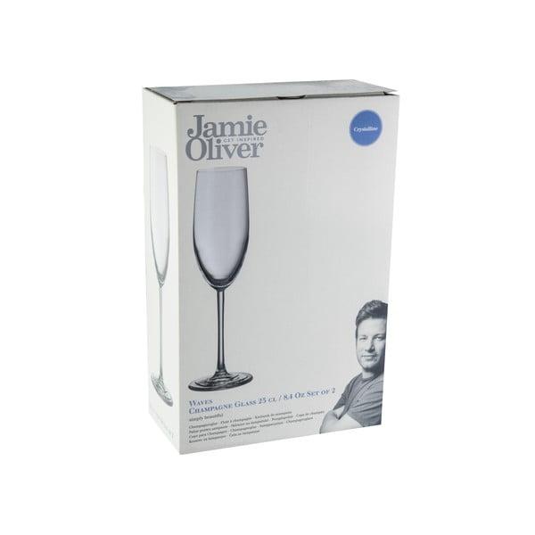 Sada 2 pohárov na sekt Jamie Oliver Waves, 250 ml