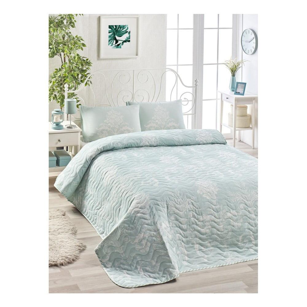 Set prikrývky cez posteľ a 2 obliečok na vankúše Masso Mussika, 200 × 220 cm