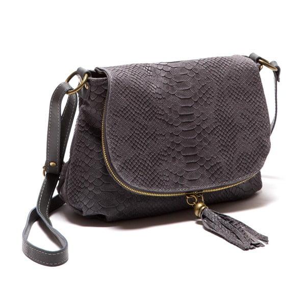 Sivá kožená kabelka Sofia Cardoni Rosetta