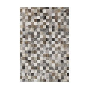 Koberec z pravej kože Sao Paulo Box 170x240 cm, sivý