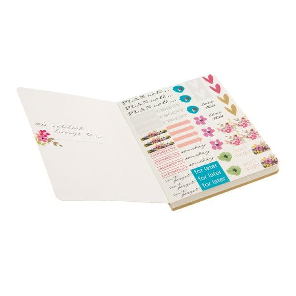 Zápisník so samolepkami Ditsy
