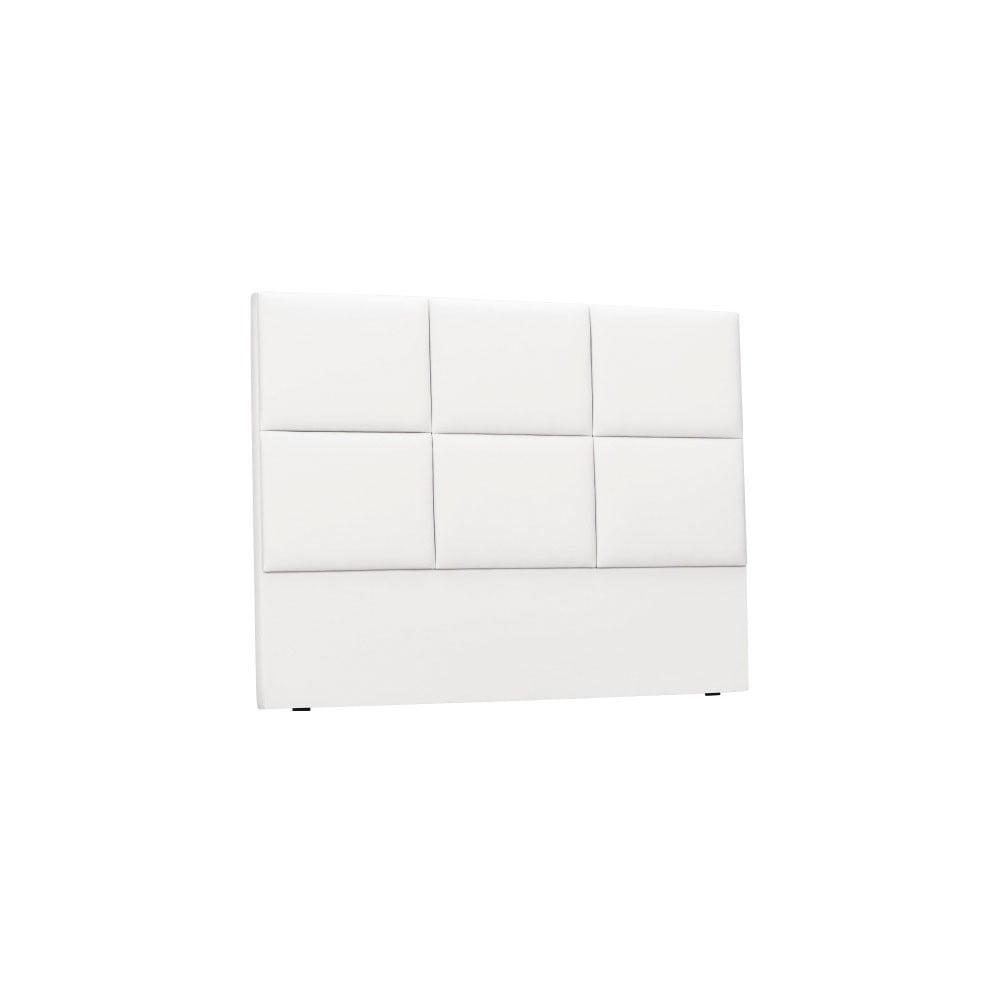 Biele čalúnené čelo postele THE CLASSIC LIVING Aude, 180 × 120 cm