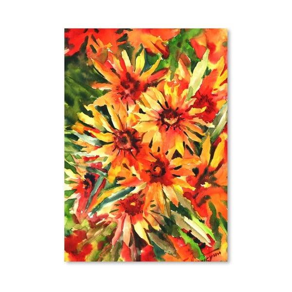 Plagát Orange Flowers od Suren Nersisyan