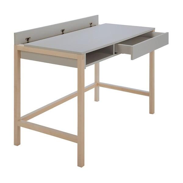 Pracovný stôl so sivou doskou Woodman NorthGate