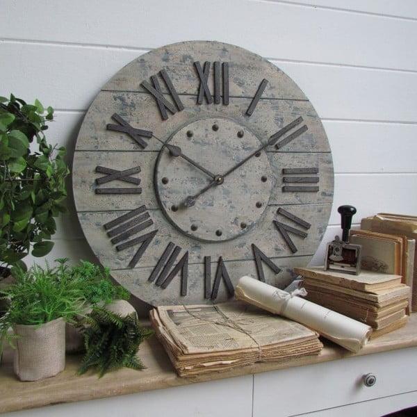 Nástenné hodiny Industrial Gray, 63 cm
