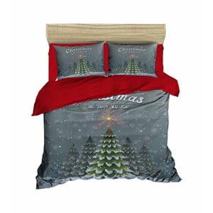 Vianočné obliečky na dvojlôžko s plachtou Reyna, 160×220 cm
