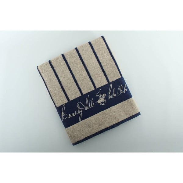 Bavlnená osuška BHPC 80x150 cm, béžovo-modrá