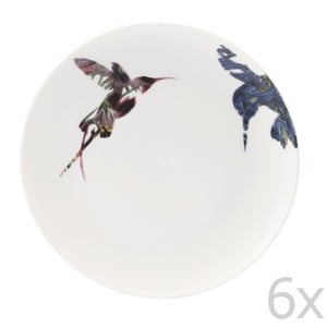 Sada 6 porcelánových tanierov Flutter, 21 cm