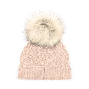 Béžová kašmírová čapica Bel cashmere Dolores