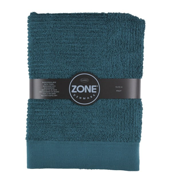 Tmavozelená osuška Zone Dark, 70x140cm
