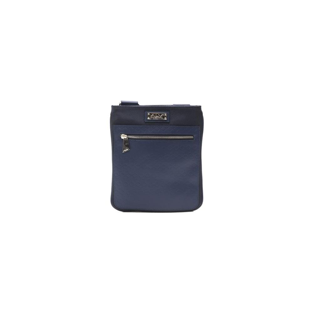 Modrá kožená pánska taška cez rameno Alviero Martini Sereto