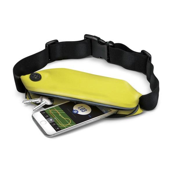 Športové neoprénové puzdro CELLY RunBelt, univerzálna veľkosť, žltá