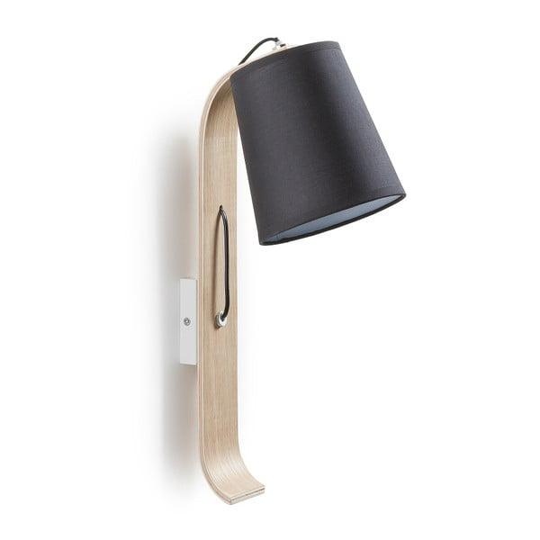 Čierna nástenná lampa La Forma Percy