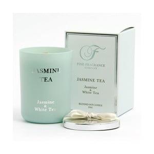 Vonná sviečka v skle zo sojového vosku s vôňou jazmínového čaju Candle-Lite, doba horenia až 50 hodín
