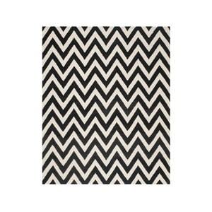 Vlnený koberec Stella Black, 243x304 cm