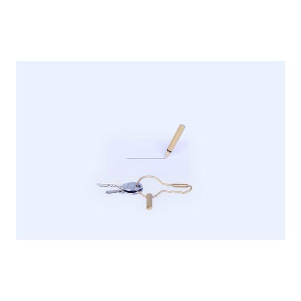 Spona na kľúče s ceruzkou DOIY Keyring Pen Gold