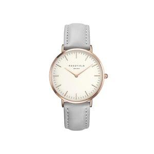 Bielo-sivé dámske hodinky Rosefield The Bowery