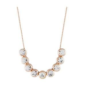 Pozlátený náhrdelník so Swarovski krištáľmi Musaventura Elegancia