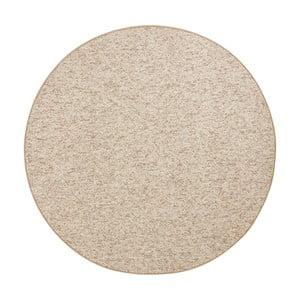 Béžovohnedý koberec BT Carpet Wolly, ⌀ 200 cm