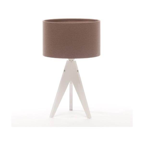 Stolná lampa Arist Cylinder Dark Taupe/White