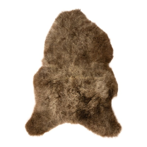 Hnedá ovčia kožušina s krátkym vlasom, 100 x 60 cm